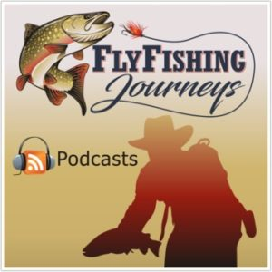 The cover art of the Fly Fishing Journeys podcast