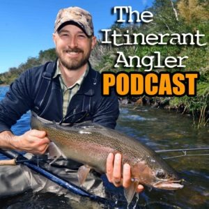 The cover art of the Itinerant Angler podcast