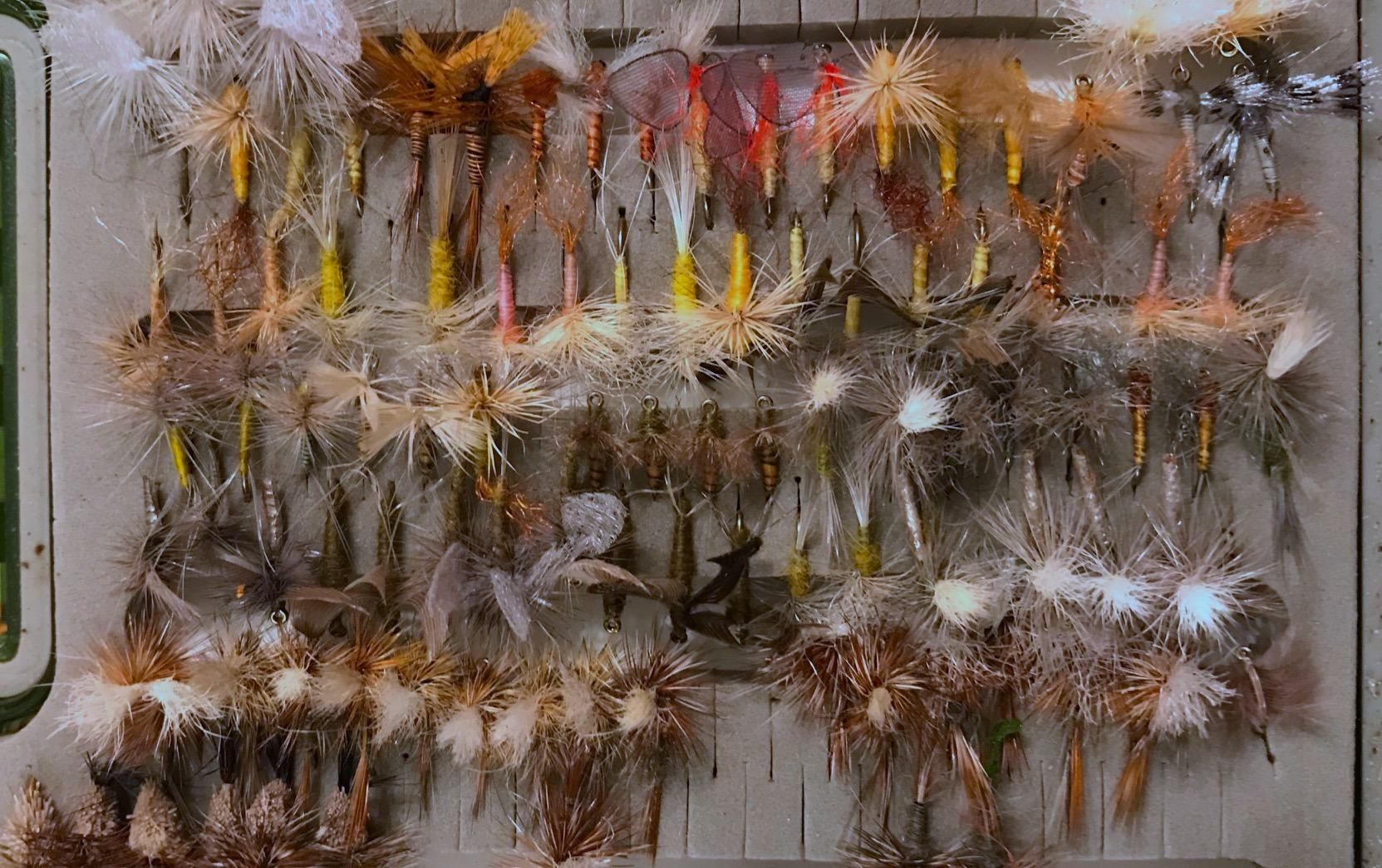 A box full of dry flies.