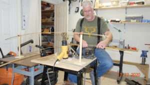 Derek Sheehan makes a bamboo fly rod
